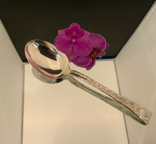 """TIFFANY LAP OVER EDGE  VEGETABLE SERVING SPOON ~ 9 5/8"""""""