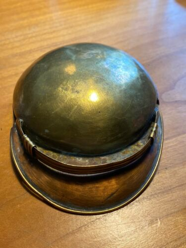 Trench art snuff box shaped cap Brass copper linedOther Forces - 66534
