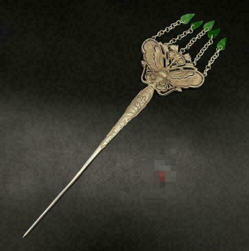 China Chinese Antiques Vintage Hairpin Miao Silver Jewelry Hair Accessories Head