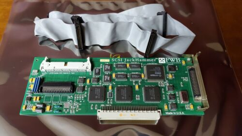Vintage FWB SCSI Jackhammer Nubus Interface card with five device 68 pin cable