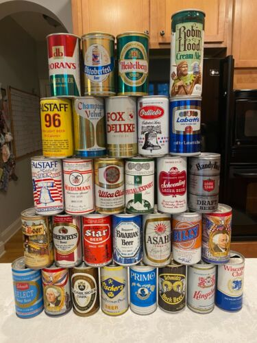 BEER CAN COLLECTION 1970'S 30 DIFFERENT CANS Great Shape! Unique Variety.    BC1