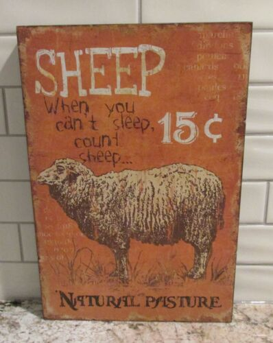 SHEEP Lamb Wood Wall SIGN*Primitive Home/French Country Farmhouse Decor*Nursery