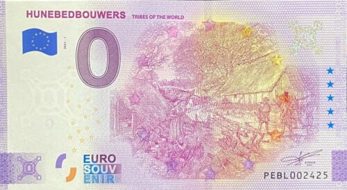 BILLET 0 EURO HUNEBEDBOUWERS TRIBES OF THE WORLD  2021 NUMERO DIVERS