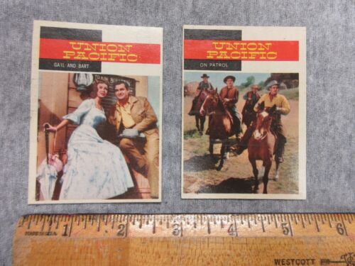 vintage Union Pacific Gail & Bart & On Patrol 1958 Western cards lot P