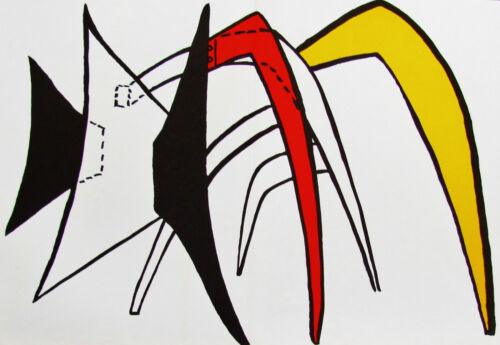 ALEXANDER CALDER - LARGE CRAB -  LITHOGRAPH - 1963 - FREE SHIPPING IN THE US !!!