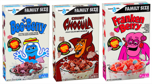 50th Anniversary Limited Edition👻Boo Berry, Count Chocula, Frakin Berry, Cereal