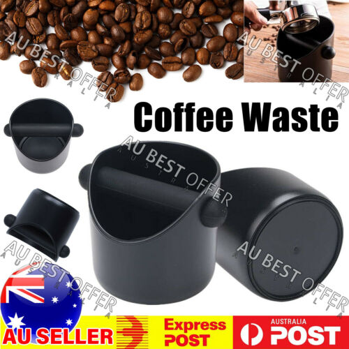 Coffee Waste Container Grinds Knock Box Tamper Tube Bin Bucket AU