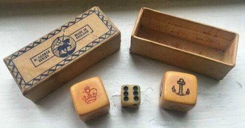 NAVY DICE GAME WORLD WAR I CROWN & ANCHOR ST GEORGE SERIES CIRCA 1914-1918 WWI