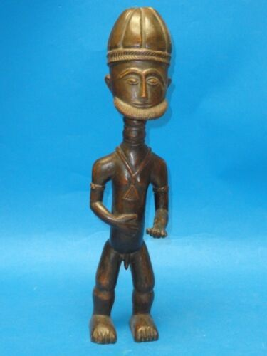 COTE d'IVOIRE BAULE DOGON WOOD CARVING : FERTLITY GOD