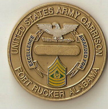 US Army Garrision Fort Rucker Command Challenge CoinArmy - 66529