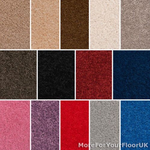 Quality Feltback Twist Carpets - Lounge Bedroom - CHEAP <br/> FREE Delivery! FREE Sample! eBays Cheapest - £4.45m²!