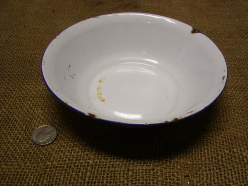 Vintage Porcelain Dish Pan > Antique Bowl Bumper Harvest Unique Size Basket