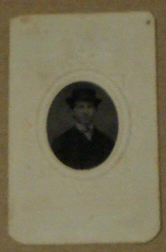 Nice Vintage Tin Type Cabinet Card Photograph, 1880s, VERY GOOD CONDITION