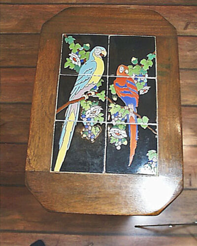 Superb All Original California Made Taylor Macaw Six Tile Twist Leg Table