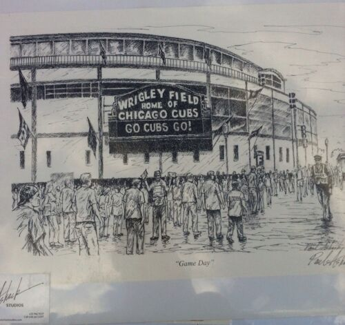 Wrigley Field Pencil And Ink Print