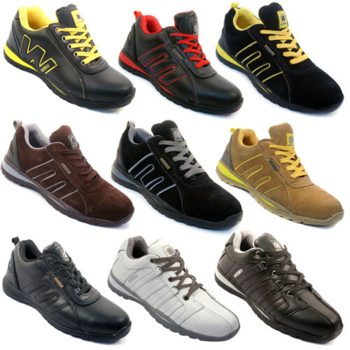 **MEN SAFETY TRAINERS SHOES BOOTS WORK STEEL TOE CAP HIKER ANKLE SIZE 6-12UK NEW <br/> ONE DAY SPECIAL PRICE....SIZES 3-13UK  FROM 15.49!!!!!!