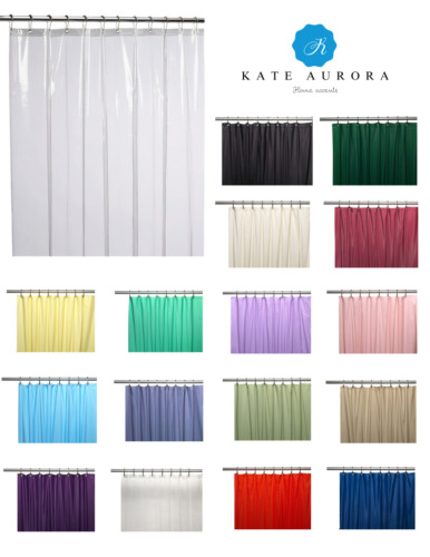 Hotel Heavy Duty 10 Gauge Vinyl Shower Curtain Liners - Assorted Colors & Sizes <br/> Back To School! Enjoy 10% Off When You Buy 3 Or More