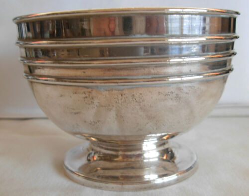 ANTIQUE ENGLISH  VICTORIAN STERLING SILVER  BOWL LONDON 1876 - 211 grams