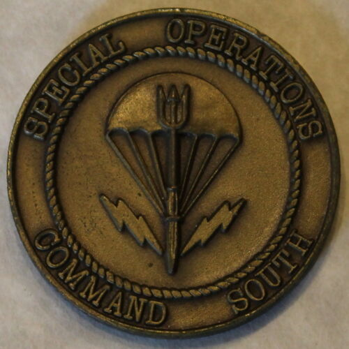 Special Operations Command South SOCSOUTH Quite Pros  Military Challenge CoinOriginal Period Items - 13983