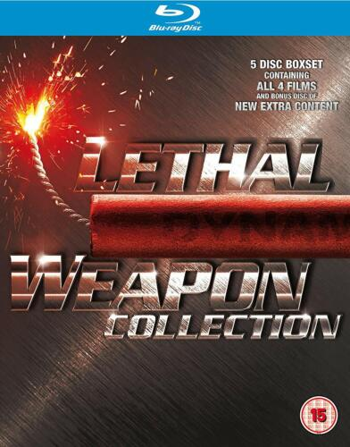 LETHAL WEAPON Complete 1, 2, 3 & 4 Blu ray Box Set Mel Gibson Region B