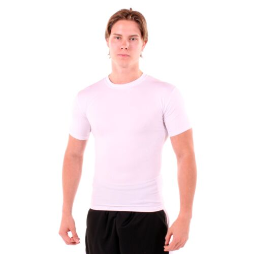 Gynecomastia shirt / man boob compression shirt flattens chest, non see through <br/> performance fabric for warm weather application
