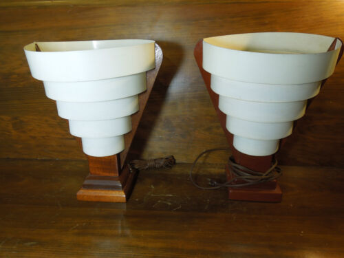 Vintage Hollywood Regency Mid-Century Modern Electric Table Lamps