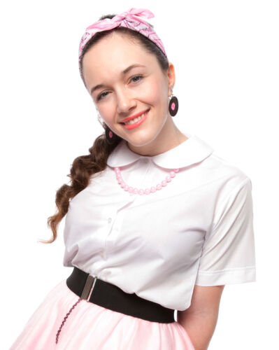 White Peter Pan Collar Button Up Blouse in Adult & Child Sizes by Hey Viv !