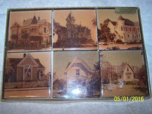 6 Vintage Coasters(all different old Infamous bldgs) water & alcohol resistent