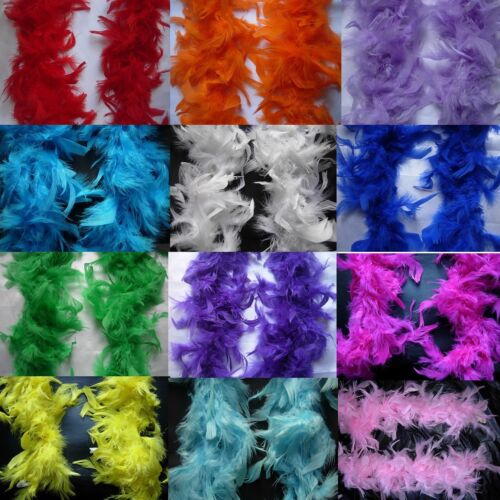 2M Black Pink..Feather Boa Hen Night Parties  Deluxe  Fancy Dress 15 Colour  <br/> Buy 1 Get 1 at 10% OFF.