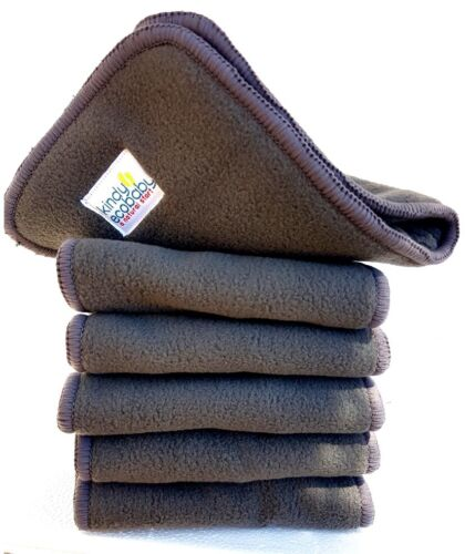 10 Pack Nappy/Insert Booster, Charcoal Bamboo  Microfiber for Modern Cloth Nappy