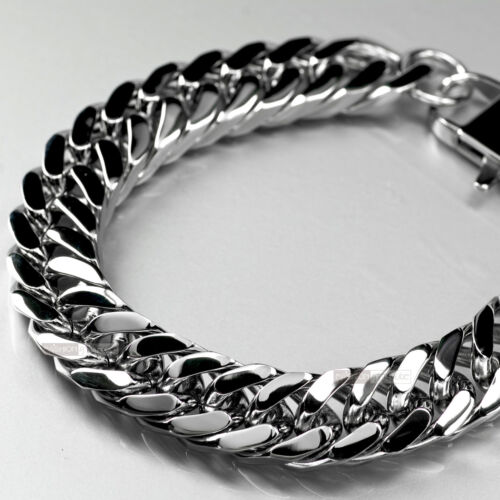 Stainless Steel Bracelet bikies chain thick heavy solid large