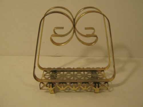 Vintage MID CENTURY Art Modern BRASS Metal Art LETTER / NAPKIN Holder