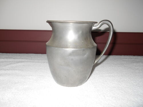 EARLY ANTIQUE PRIMITIVE PEWTER WATER PITCHER