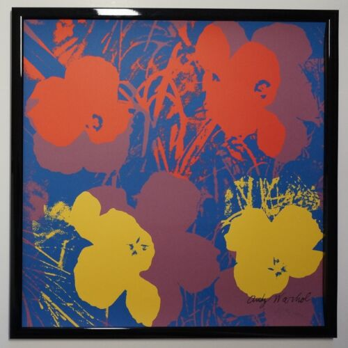 F - Andy Warhol Flowers Lithograph Limited 2400 pcs.