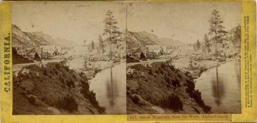 Lawrence & Houseworth stereoview # 917 (1870's) Silver Mountain Town, California