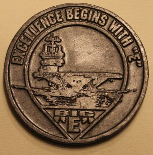 "USS Enterprise CVN-65 BIG E Excellence Begins With ""E"" Navy Challenge CoinOriginal Period Items - 13983"