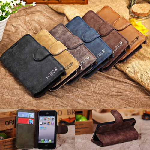 Genuine Leather Flip Credit Card Slot Stand Cover Case Wallet For iPhone Samsung <br/> New Arrival for iPhone 7 Plus & Samsung S7 edge