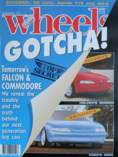 Wheels Magazine September 1991 - Top Secret - 20% Bulk Magazine Discount