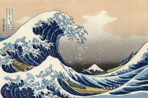 The Great Wave of Kanagawa Katsushika Hokusai Poster Art Print 24x36 Asian