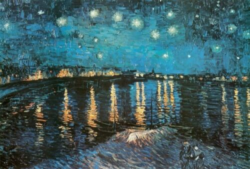 Starry Night Over The Rhone Painting Vincent Van Gogh Poster Art Print 24x36