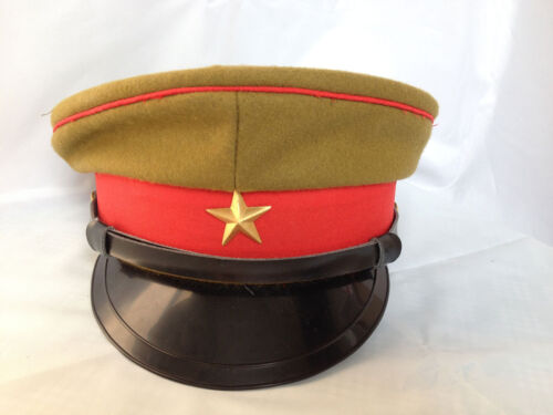 a1033ea7d48  31.27 CAD WWII Imperial Japanese Army Officer s Wool Visor Crusher Cap Hat  Size M - JP003Japan - 156435