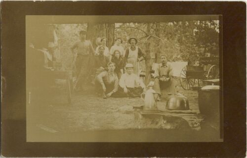 Postcard of a group at Foresthill, California, Circa: 1915