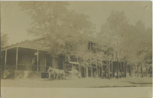 Postcard of Saloon and Dry Goods in Foresthill, California