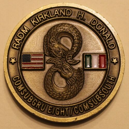 Submarine Group 9 Commander/'s Challenge Coin E6