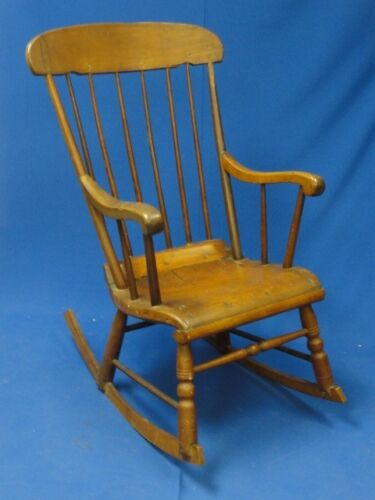 ANTIQUE RUSTIC BOSTON  ROCKING ROCKER CHAIR * RARE FIND