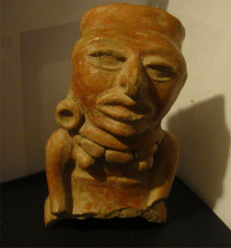 """PRE COLUMBIAN MAYAN AUTHENTIC 1,000 YEAR OLD LARGE EFFIGY 6"""" TALL CLASSIC PERIOD"""