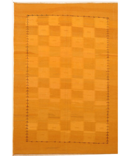 Yellow 7' x 9' Kilim Rug Hand Knotted Persian Rug