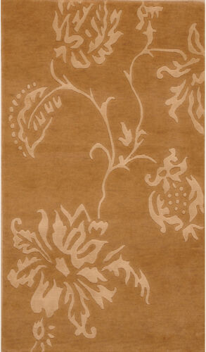 Beige 3' x 5' Indo Nepal Rug Hand Knotted Oriental Rug