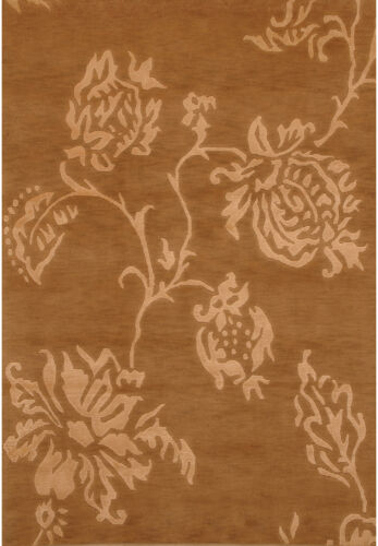 Beige 4' x 6' Indo Nepal Rug Hand Knotted Oriental Rug