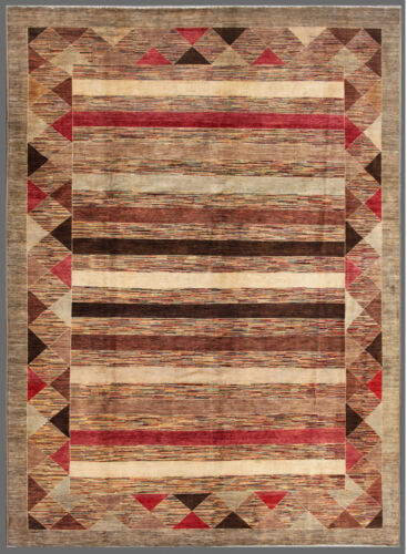 Red 9' x 12' Gabbeh Rug Hand Knotted Oriental Rug